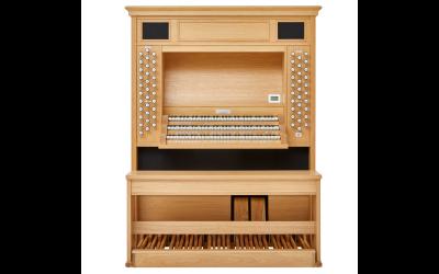 LIVE 3P JOHANNUS orgue 3 claviers avec 2 jeux d'échantillons de 52 registres et finition chêne clair