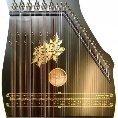 100-5 Cithare 6 accords de 7 notes + mélodie 25 cordes : Noir