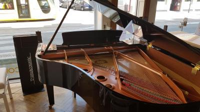 YAMAHA C3X-TA-PE d'occasion 12-2017 piano à queue version TRANSACOUSTIC  186 cm noir