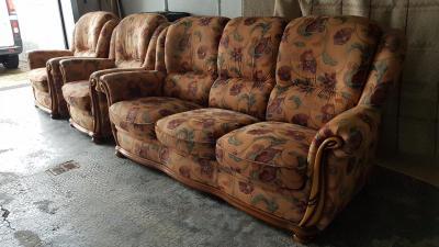 Canapé d'occasion avec 2 fauteuils