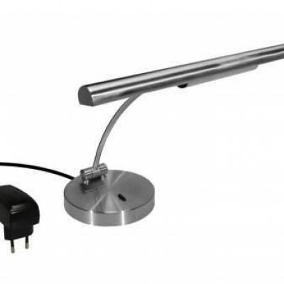 GAL-25046 lampe de piano droit Finition Platine mat - HALOGENE