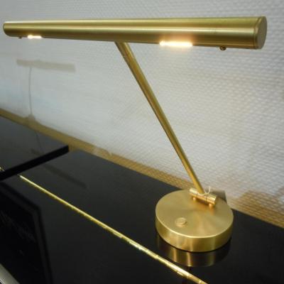 GAL-4022 RONDO Lampe de piano droit laiton mat - LED ( Modèle EXPO )