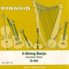 Jeu de cordes pour BANJO 5 cordes   Nickel PYRAMID 525100