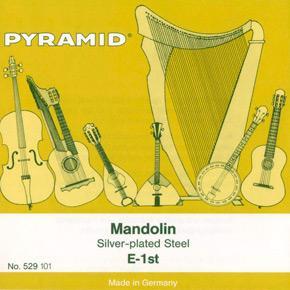 Jeu de cordes argentées pour MANDOLINE  PYRAMID 529100