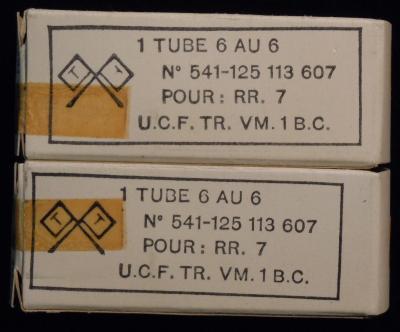 6AU6 BELVU  lampe tube