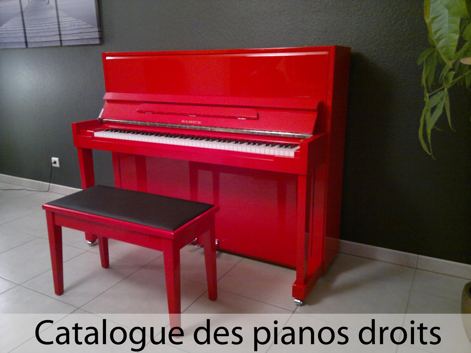 Acceuil pianos droits