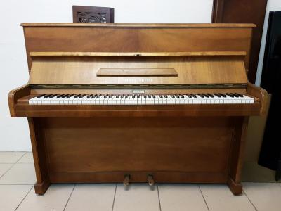 Piano droit d'occasion 112 cm AUGUST FORSTER  satiné