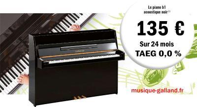 YAMAHA  piano droit neuf B1-PE 110 cm noir  + CREDIT GRATUIT 24 x 135€