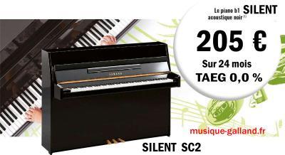 YAMAHA  piano droit neuf B1-SILENT  110 cm noir  CREDIT GRATUIT sur 24 mois