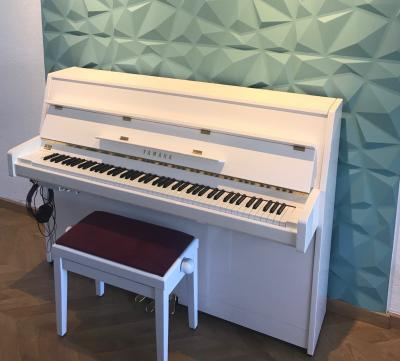 YAMAHA piano droit neuf B1-SC2-PWH 110 cm  SILENT blanc brillant