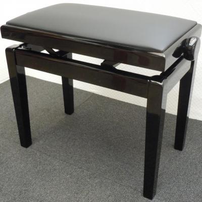 LUXE-BG1-NB-CUIR superbe banquette  Noir BRILLANT - CUIR noir