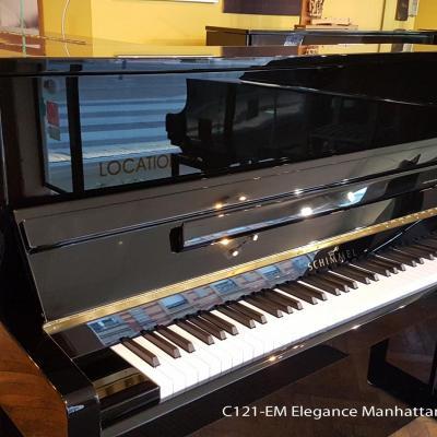 Piano neuf SCHIMMEL C121 NOIR Elégance-Manhattan (Disponible)