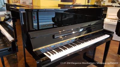 Piano neuf SCHIMMEL C121-EM-NOIR Elegance-Manhattan (Disponible)