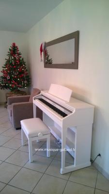 KAWAI CA17-W blanc avec clavier piano - Touches en  bois