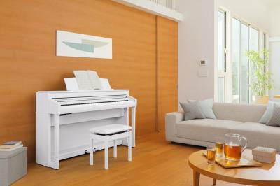KAWAI CA78-W blanc 2 x 50 Watts avec touches de pianos en bois + écran Tactile