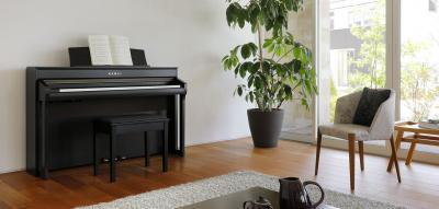 KAWAI CA98-B noir 3 x 45 Watts avec touches de pianos en bois + écran tactile