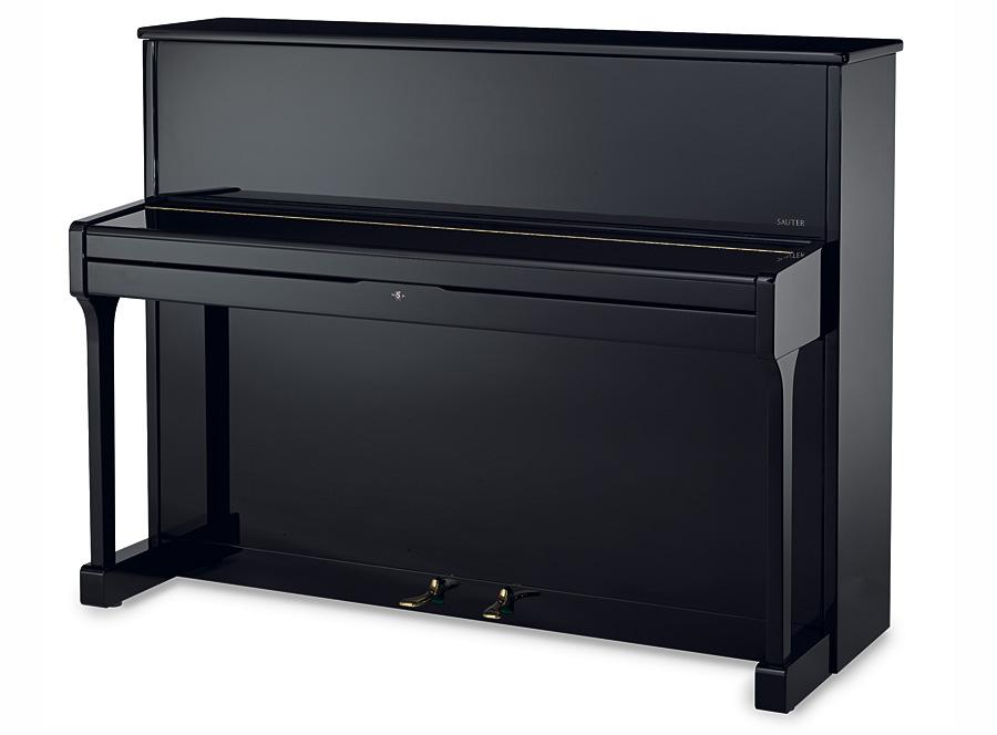 carus 112 piano droit sauter finition noir brillant. Black Bedroom Furniture Sets. Home Design Ideas