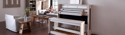 CLASSIC 350 JOHANNUS orgue de salon 3 claviers : Chêne clair