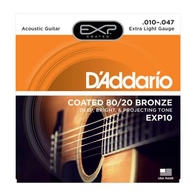D'ADDARIO 10-47 EXP10 EXTRA-LIGHT jeu de cordes Folk bronze