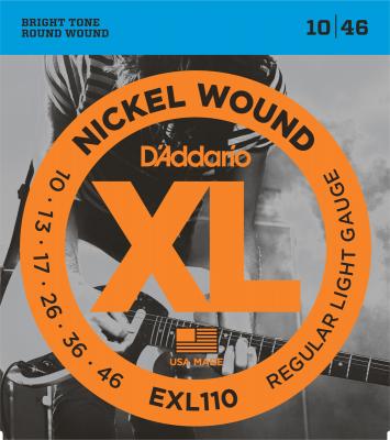 D'ADDARIO 10-46 EXL110 REGULAR LIGHT jeu de cordes ELECTRIQUE