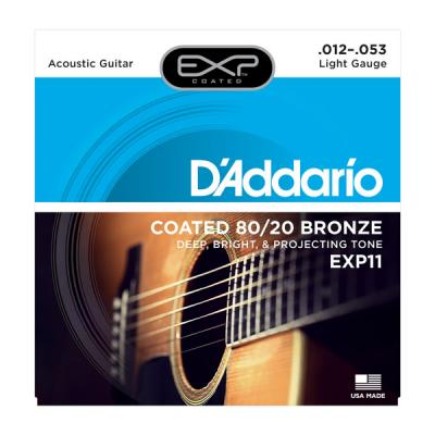 D'ADDARIO 12-53 LIGHT EXP11 jeu de cordes Folk bronze