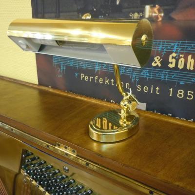 GAL-809 Petite lampe stylé pour piano droit  Laiton mat - Douille E14