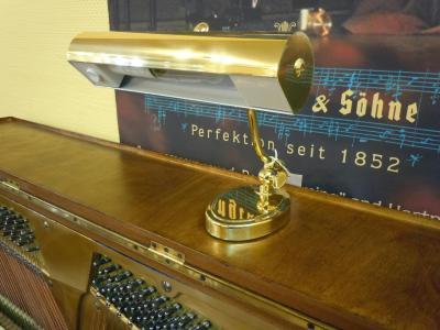 GAL-809 Petite lampe stylé pour piano droit  Laiton mat - Douille E14 compatible  LED
