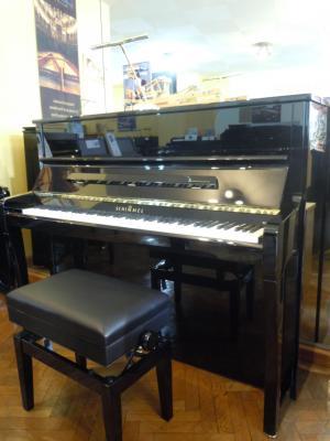 SCHIMMEL piano droit CONCERT K-122 ELEGANCE  finition noir brillant