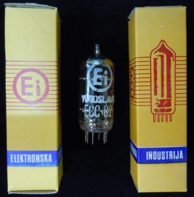 ECC82 / 12AU7    EI Lampe Tube