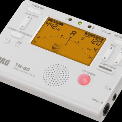 ACCORDEUR-METRONOME Chromatique TM-60-WH blanc  KORG