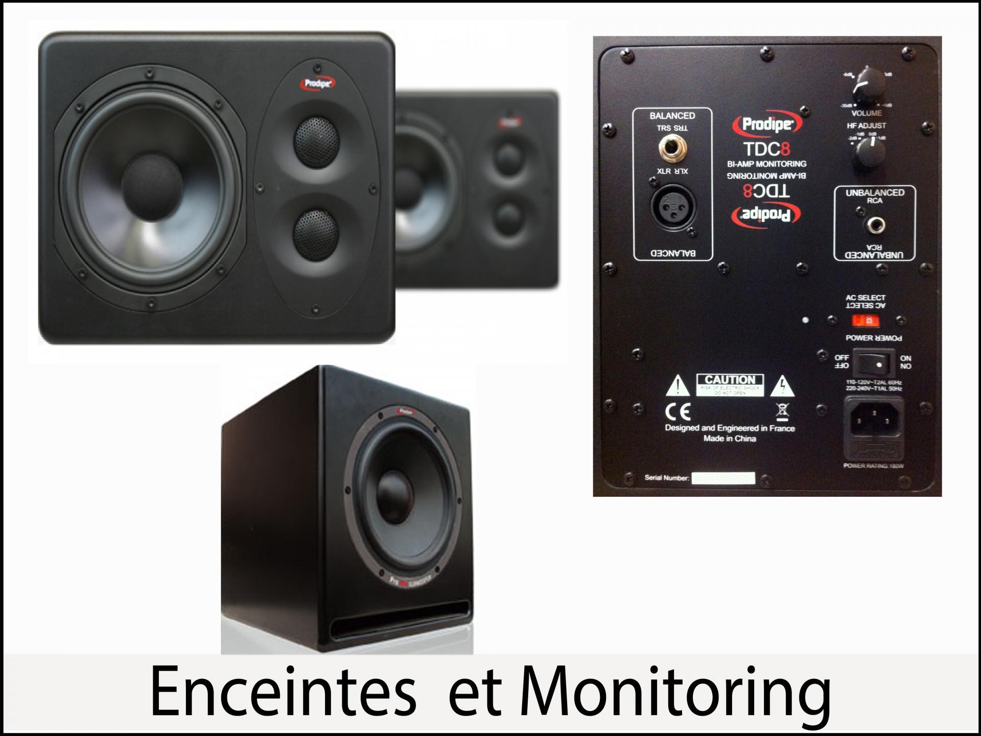 Enceintes et monitoring