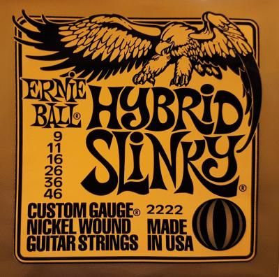 ERNIE-BALL 09-46 HYBRID SLINKY jeu cordes ELECTRIQUE