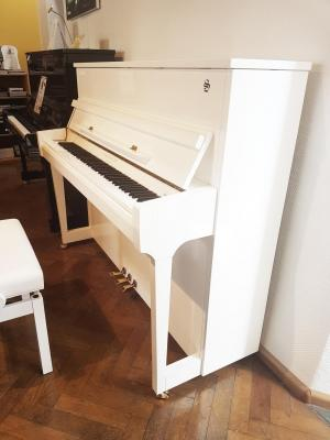 Piano neuf FRIDOLIN-Schimmel  F121T-Blanc finition Laiton (Disponible)