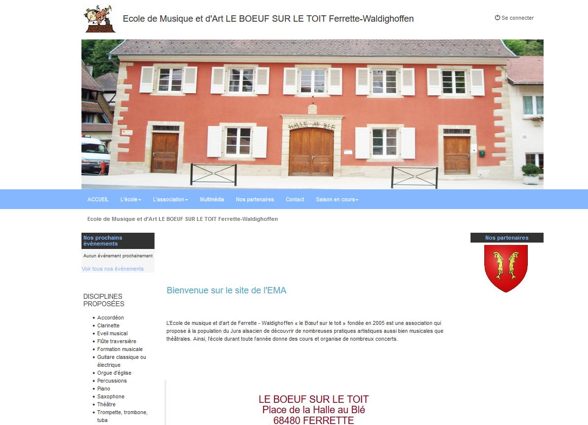ECOLE de MUSIQUE : FERRETTE Boeuf sur le toit