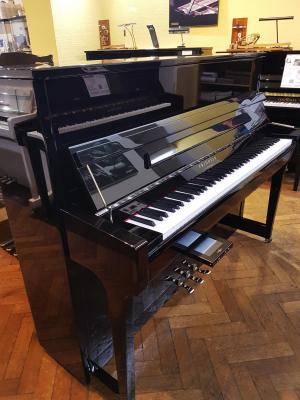 Piano neuf FRIDOLIN-Schimmel  F121T TWINTONE (Casque) Noir & Chrome (Arrivage08/06)