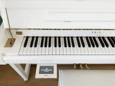 Piano neuf FRIDOLIN-Schimmel  F116T-Blanc + TWINTONE