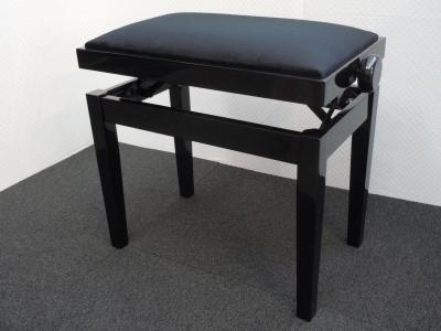 CLASSIC  27-NB-VN banquette piano Noir BRILLANT - VELOURS noir
