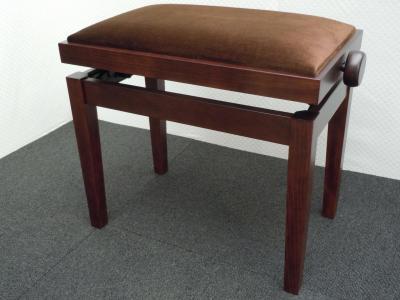 CLASSIC 27-NF1-VM banquette piano Noyer foncé VELOURS marron
