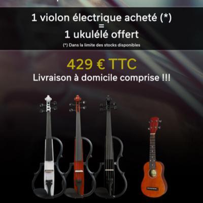 OFFRE Violon électrique GEWA + 1 Ukulélé offert + livraison domicile