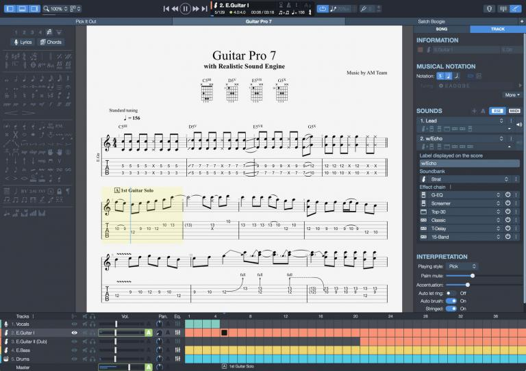 Logiciel Guitare Pro 7 ( version CD )