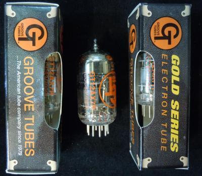 12AX7R / ECC83  GOLD  Grooves tubes
