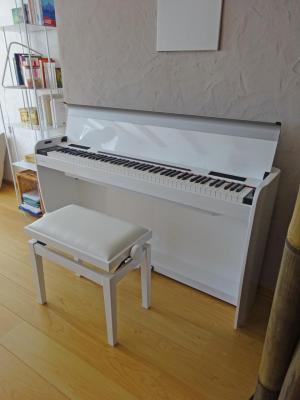 DEXIBELL VIVO-H7-WHP piano numérique DESIGN en blanc poli brillant