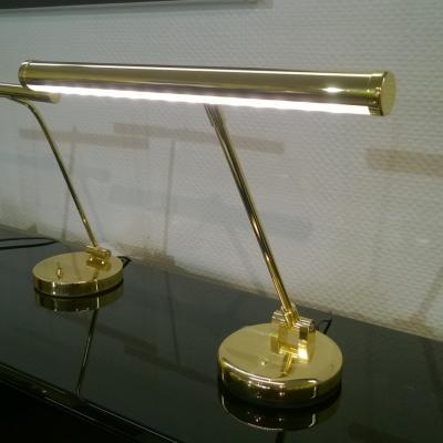 Eclairage LED design  pour pianos droits HM-LED-LB - Finition laiton brillant