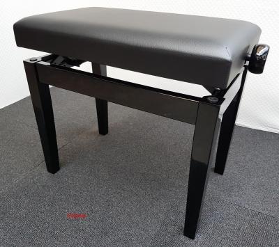 PRESTIGE HM-PS-24NB-SK superbe banquette DESIGN Noir BRILLANT - SKAI noir