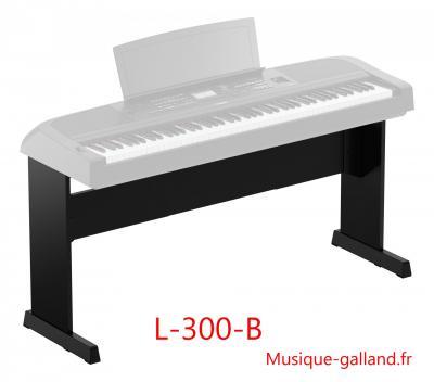 Stand YAMAHA L300-B noir pour pianos DGX670