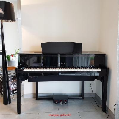 YAMAHA N1X noir brillant HYBRIDE avec mécanique piano à queue (Arrivage-11/09))