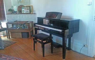 YAMAHA N1 AVANTGRAND HYBRIDE-QUEUE noir brillant
