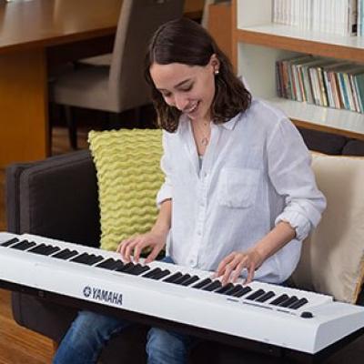 Piano portable YAMAHA NP32-WH blanc  Piaggero 76 notes