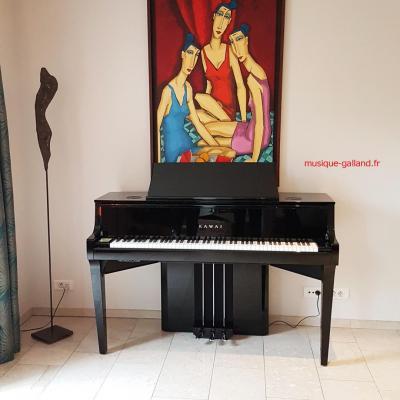 KAWAI NV10-S noir brillant  HYBRIDE avec mécanique piano à queue (Disponible)