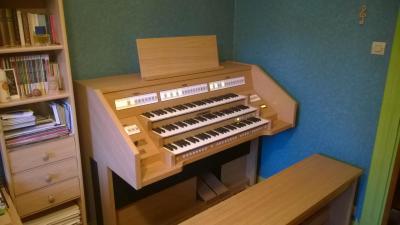 OPUS 350 JOHANNUS orgue d'étude 3 claviers - Chêne clair
